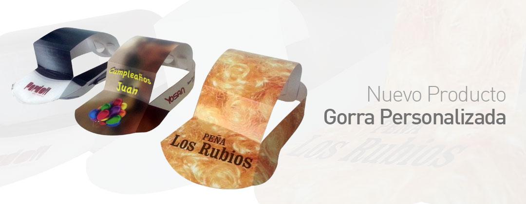 Gorras pretroqueladas para impresión digital