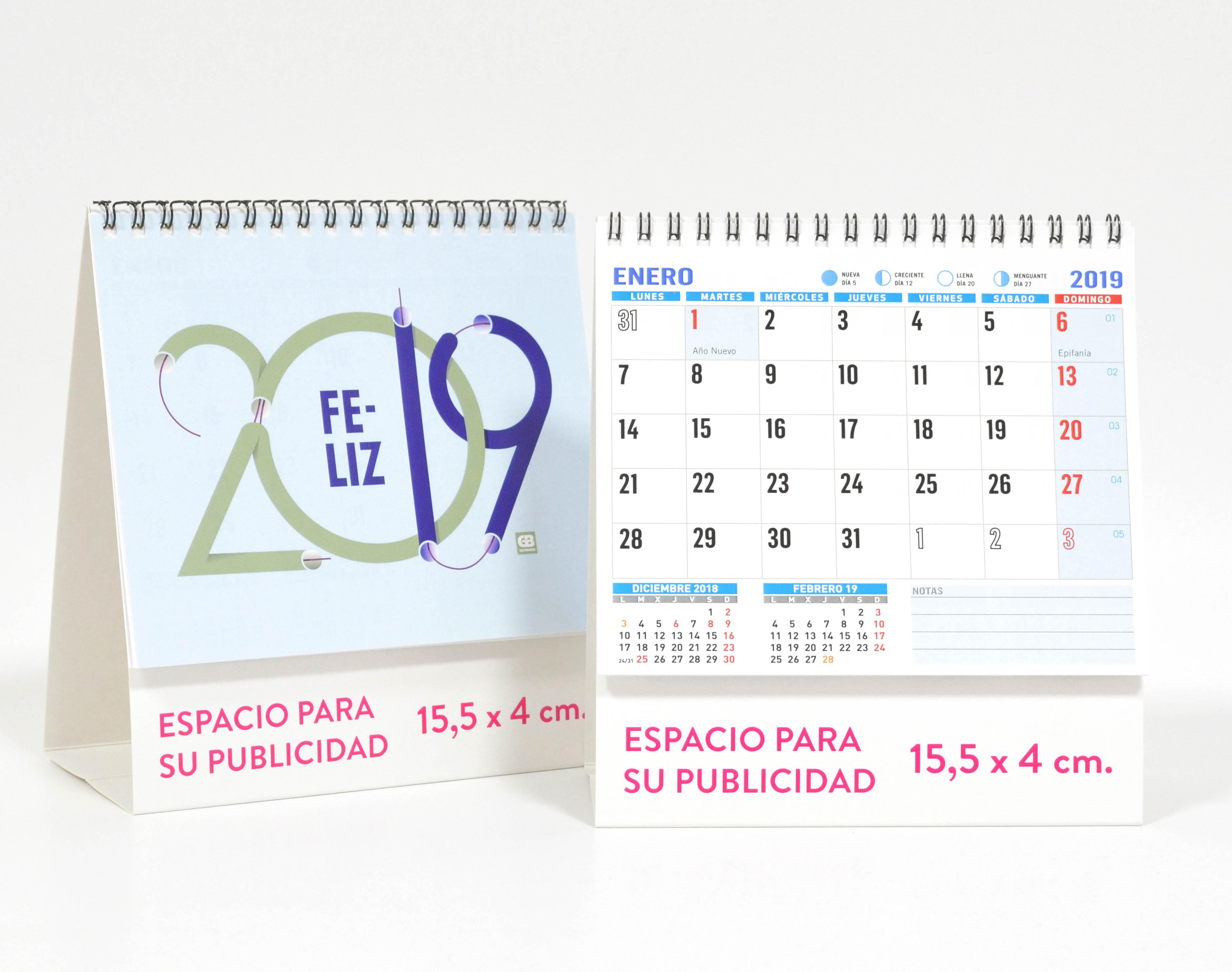 calendario notas 2019